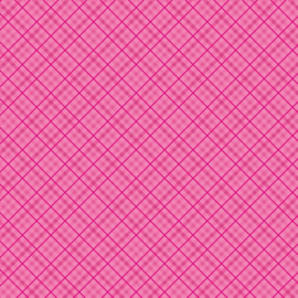 Patterned single-sided d.pink plaid