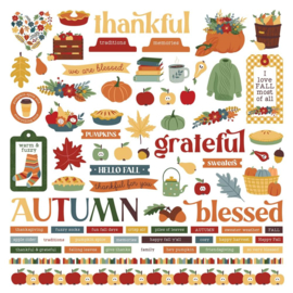 Autumn Greetings Elements Stickers