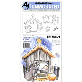 TryFolds Stamp & Die Set Nativity