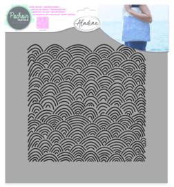 Textile Stencil Waves