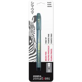 Zensations Fine Tip Brush Pen Black