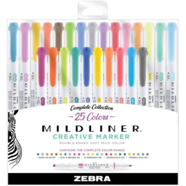 Mildliner Double Ended Highlighters Assorted Colors