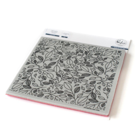 """Cling Rubber Stamp Set 6""""X6"""" Lush Vines"""