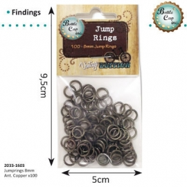 Jewelry findings jump rings 8mm