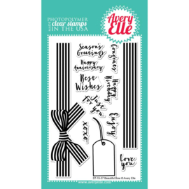 "Clear Stamp Set Beautiful Bow 4""X6"""