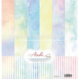 "Watercolor Splash Collection Pack 12""X12"""