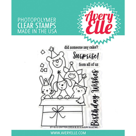 "Clear Stamp Set Critter Crew 4""X3"""