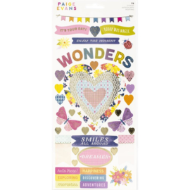 Wonders Cardstock Stickers Accents & Phrases