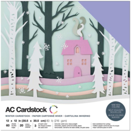 "Winter Variety Cardstock Pack 12""X12"""