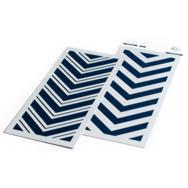 "Double Chevron Layering Stencils 4""X9"""