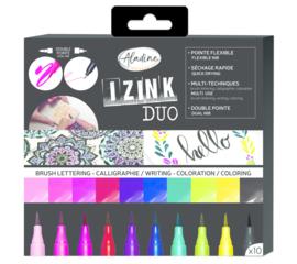 Izink Duo Brush Lettering Set (10pcs)