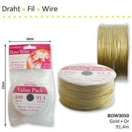 Wire gold/goud 91.4m