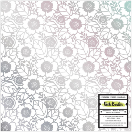 Color Kaleidoscope Vellum Flowers W/Silver Holographic Foil