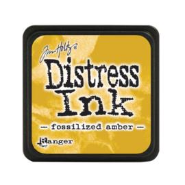 Distress Mini Ink Pad Fossilized Amber