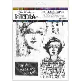 """Media Collage Tissue Paper 7.5""""X10"""""""