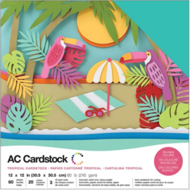 "Variety Cardstock Pack Tropical 12""X12"""