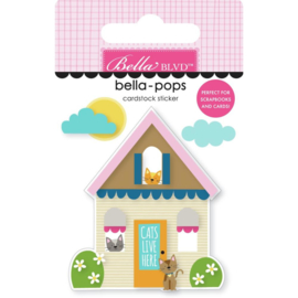 Chloe Cat House Bella-Pops 3D Stickers