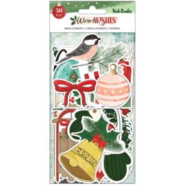 Warm Wishes Ephemera Cardstock Die-Cuts Icons