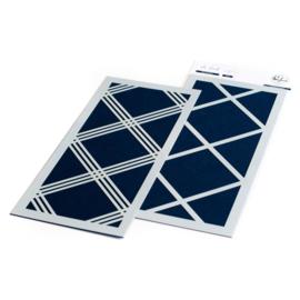 "Diamond Plaid Layering Stencils 4""X9"""