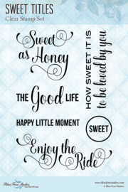 Sweet Titles clear stamp