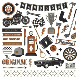 Grease Monkey Stickers Elements