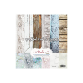 "Weathered Wood & Crystals Collection Pack 12""X12"""