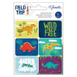 Field Trip Lenticular Stickers Dinosaurus