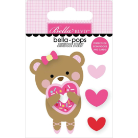 My Candy Girl Bella-Pops 3D Stickers Donut Grow Up