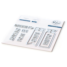 Die Set Mini Tags Fillable Words