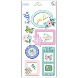 Happy Blooms Puffy Frames Stickers