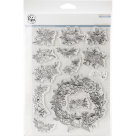 "Clear Stamp Set 6""X8"" Floral Elements"