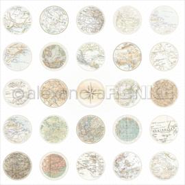 Travel Design Paper Maps Circle