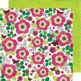 "Color Kaleidoscope Dbl-Sided Cardstock 12""X12"" Flower Shop"