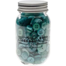 Button Mason Jars Bali Blue