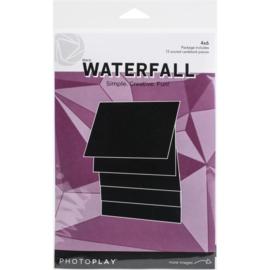 "Maker Series 4""X6"" Manual Black Waterfall"