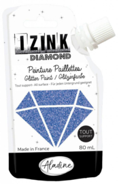 Izink Diamond Glitter Paint Blue