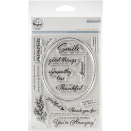 Clear Stamp Set Oval Foliage