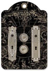 Shabby Chic Metal Door Plates & Knobs