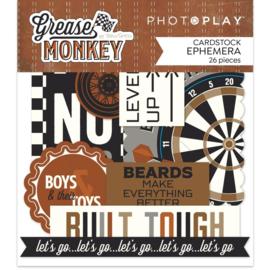 Grease Monkey Ephemera Cardstock Die-Cuts