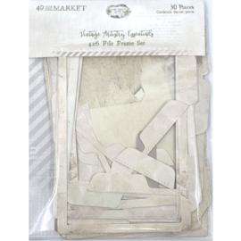 """Vintage Artistry Essentials File Frame Set 4""""X6"""""""