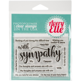 "Clear Stamp Set With Sympathy 4""X3"""