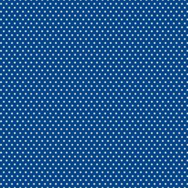 Patterned single-sided d.blue sm.dot