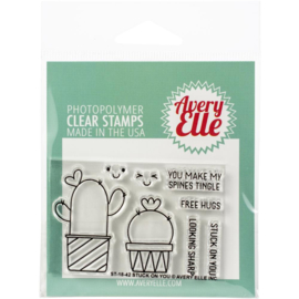 "Clear Stamp Set Stuck On You 2""X3"""