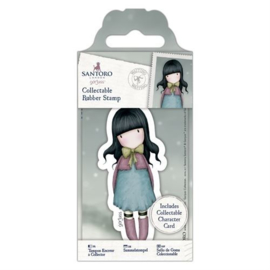 Gorjuss Collectable Rubber Stamp Waiting