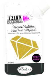 Izink Diamond Glitter Paint 24 Carats Gold