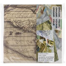 Origami Paper  Travel Theme