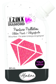 Izink Diamond Glitter Paint 24 Carats Red