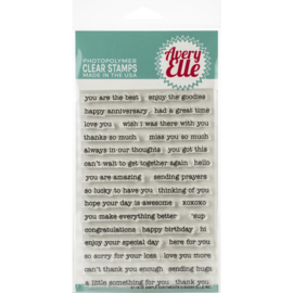 "Clear Stamp Set Simple Sentiments 4""X6"""
