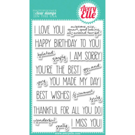"Clear Stamp Set Handwritten Notes 4""X6"""