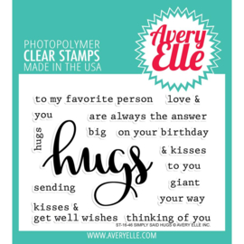 "Clear Stamp Set Simply Said Hugs 4""X3"""